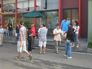 Persiapan berangkat di Rest Area KM 19 tol Jakarta-Cikampek